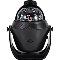 Boat Compass Flush Mount, Car Compass Dashboard Digital Navigation Explorer Compass, Illuminated Marine Compass with LED…