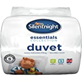 Silentnight Essentials Collection - Piumino da 15 Tog, Policotone, bianco, Singolo (135 × 200cm)