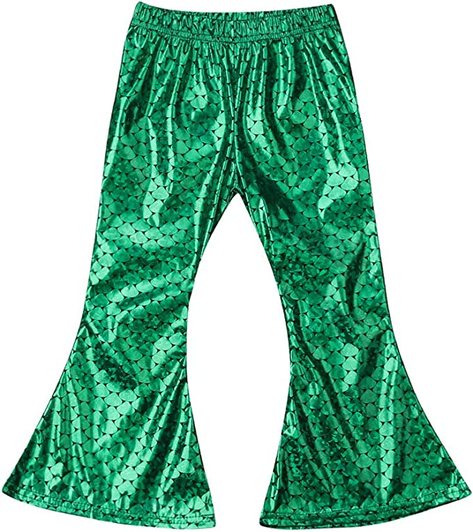 Faithtur Baby Girls Clothes Mermaid Fish Scale Stretch Leggings Pants