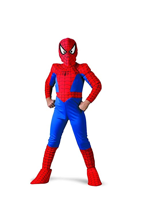 Captivating Spider Man Deluxe Child Costume: Size 10 12