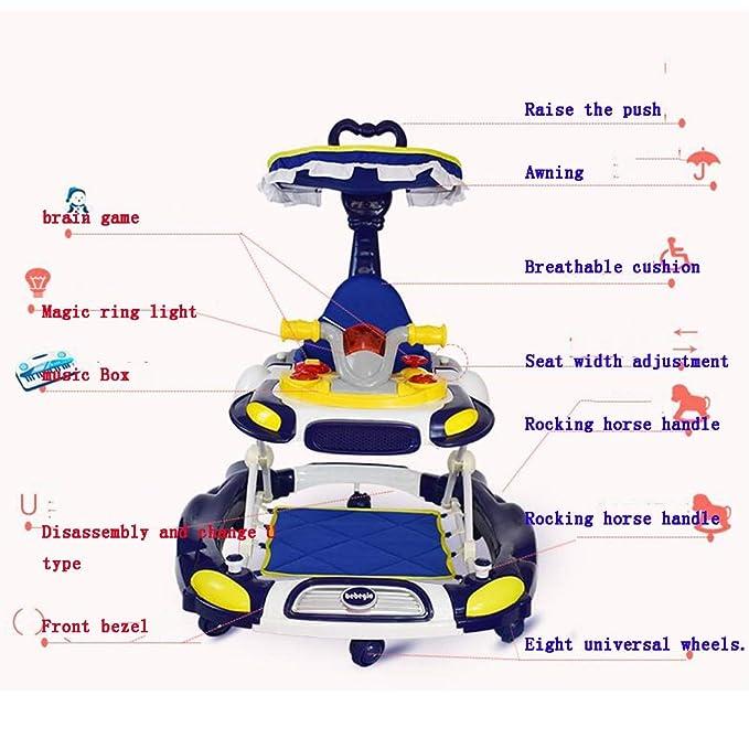 YUMEIGE Andadores Andador básico, asa de empuje, Andador de ...