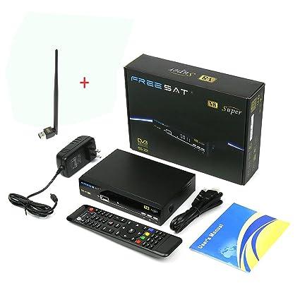 Genuine Freesat HD 1080P Sat Receptor Digital V8 Super Satellite Receiver  DVB-S2 Satellite Decoder Free to Air FTA Wireless Smart Receiver Support