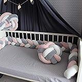 Amazon.com: Parachoques de cuna trenzado...: Baby