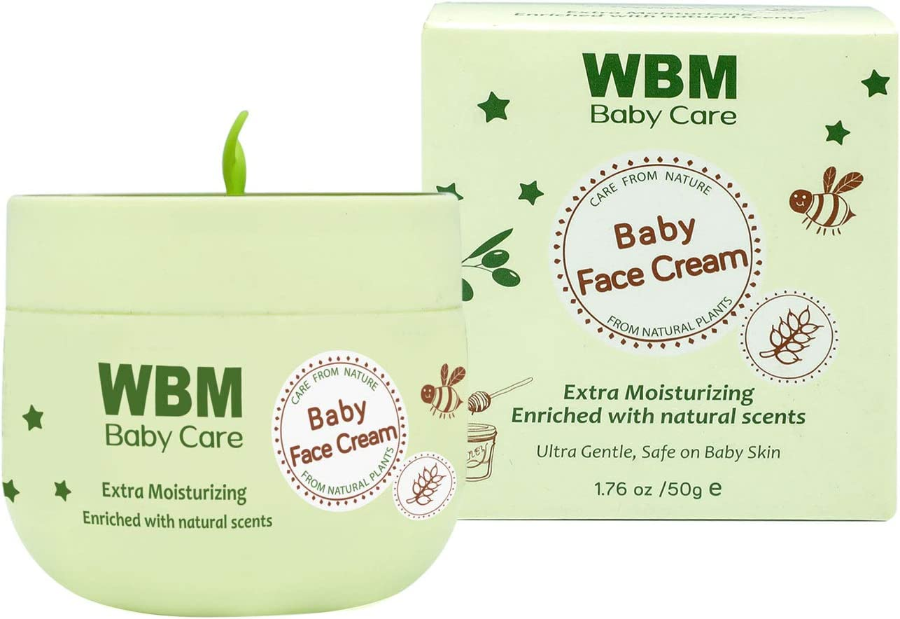 WBM Care Baby Face Cream| Gentle Moisturizing Cream With Natural Scents | Colorants And Parabens Free 1.76 oz