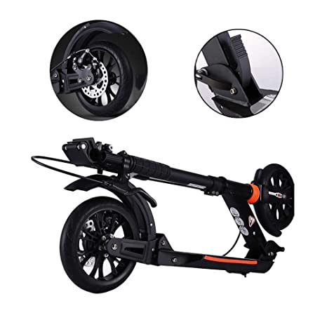DLYDSS Patinete Ajustable para Adultos, Scooter Plegable ...