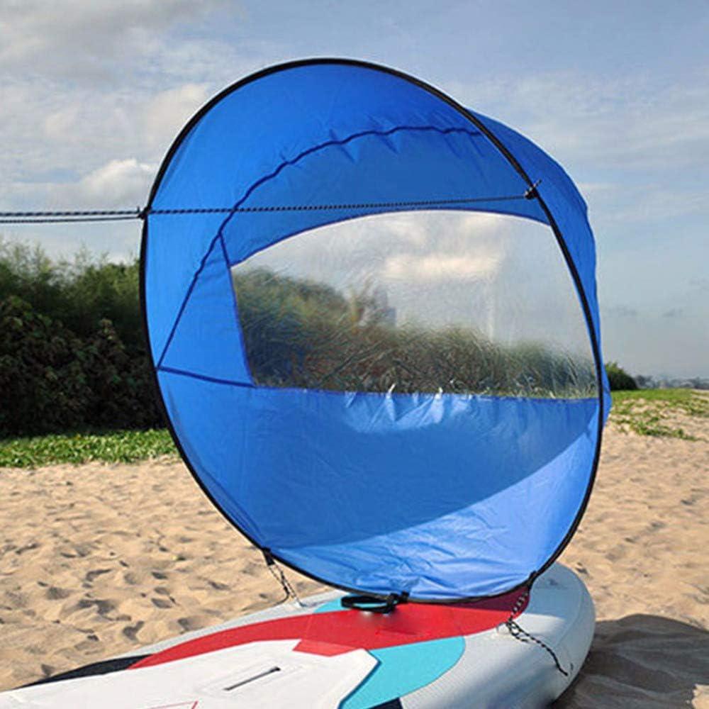 PVC Kajak Segel Kit F/ür Schlauchboote Kajaks Kanu Paddel Board. 42 Zoll Downwind Wind Segel Sup Paddel Langlebig Und Einfach Einzurichten AeasyG Kajak Wind Segel
