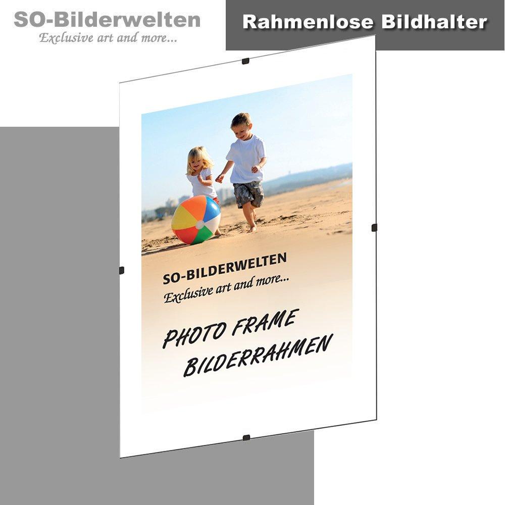 Amazon.de: S1 Rahmenlose Bildhalter Cliprahmen Bildträger DIN A3 29 ...