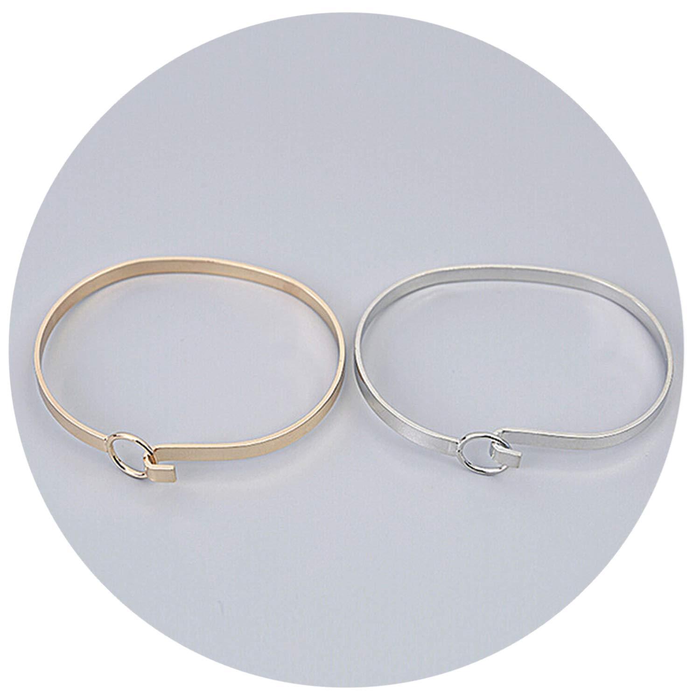 minimalist unique feel the wind Extremely brief opening hasp bracelet 6.3-5cm fine bracelet,Platinum Plated