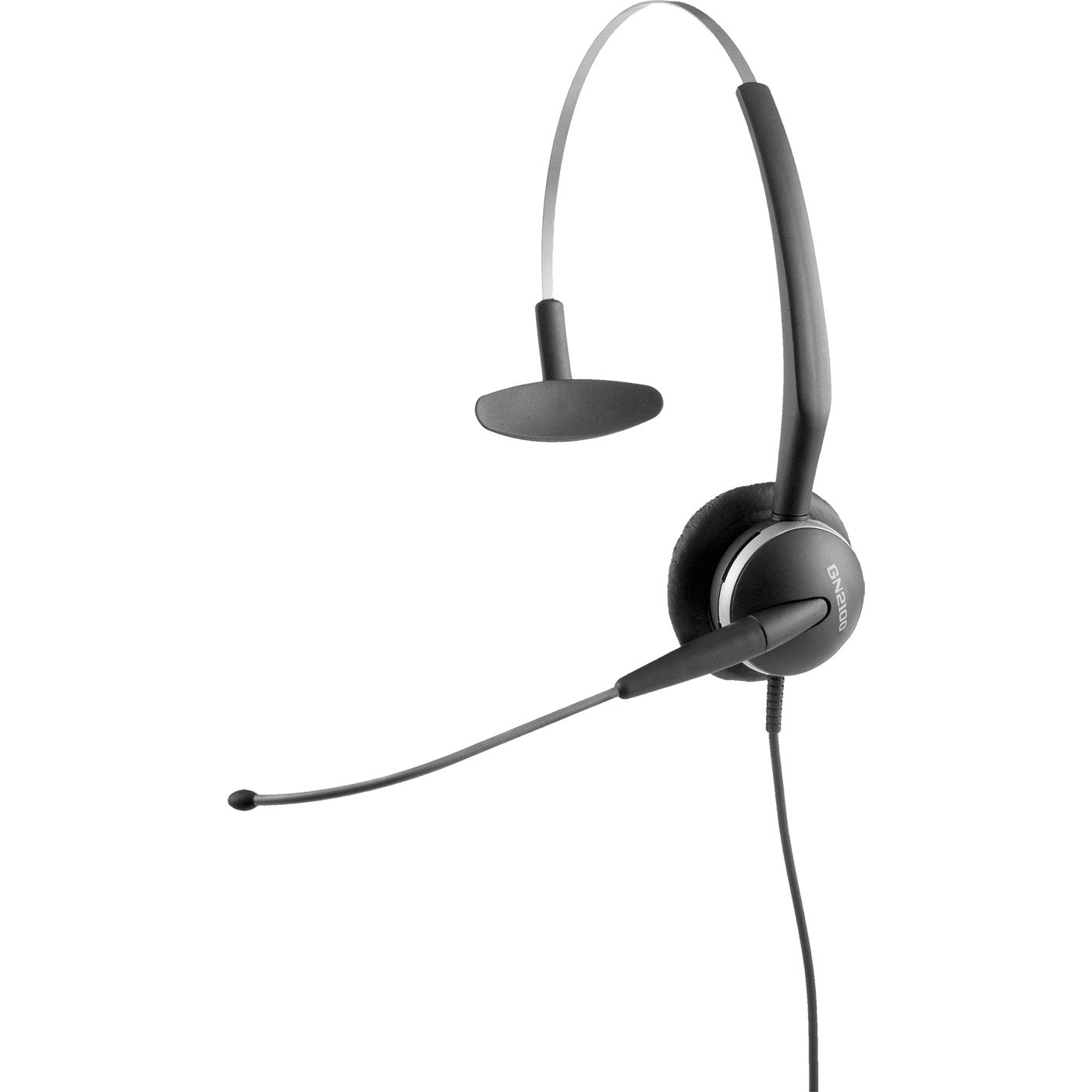 Jabra GN2124 4-in-1 Mono Corded Quick Disconnect Headset with 4-in-1 Wearing Styles for Deskphone