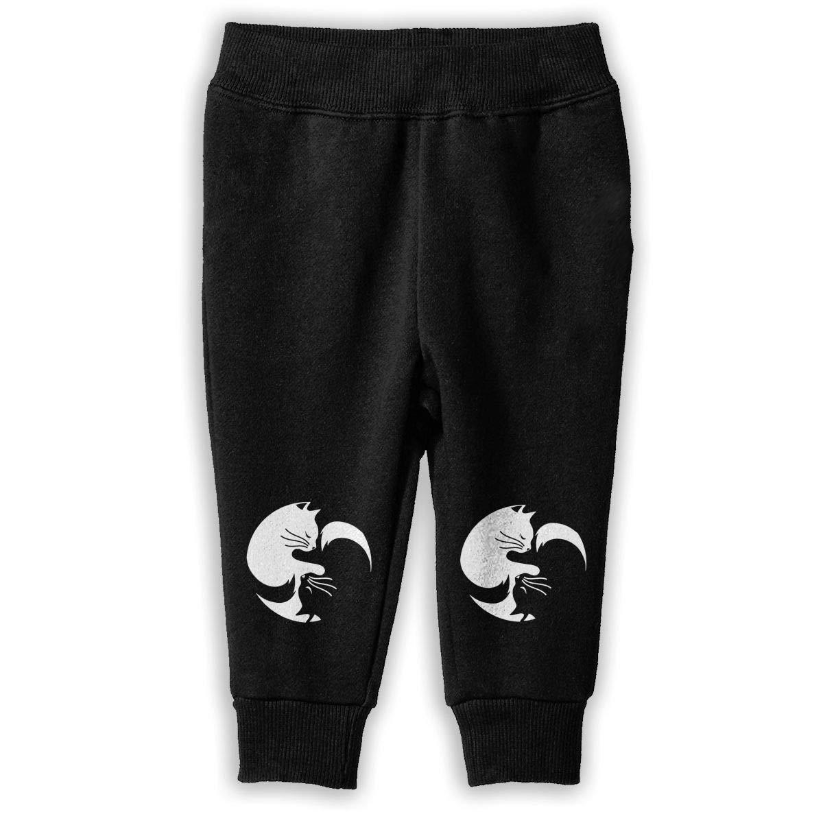 Printed Ying Yang Cat Child Boys /& Girls Unisex Sports Sweatpants