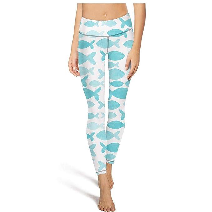 Amazon.com: AWAWE Watercolor - Mallas de yoga para mujer ...