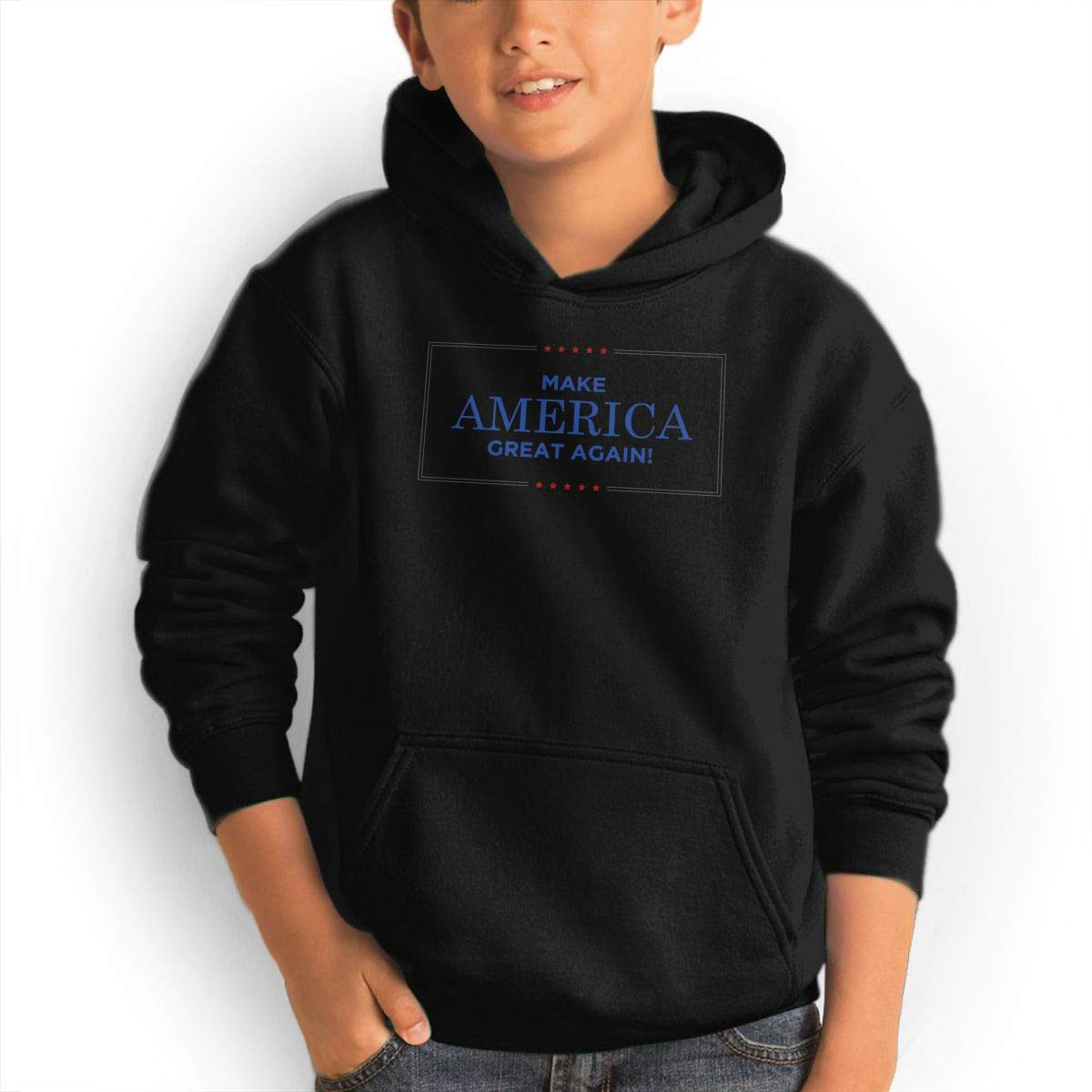 ACFUNEJRQ Youth Leisure Sports Make America Great Again Pocket Pullover Hoodies Sweatshirt