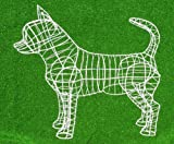 Chihuahua 11''H x 15''L x 4''W wide Topiary Frame, Handmade Animal Decoration
