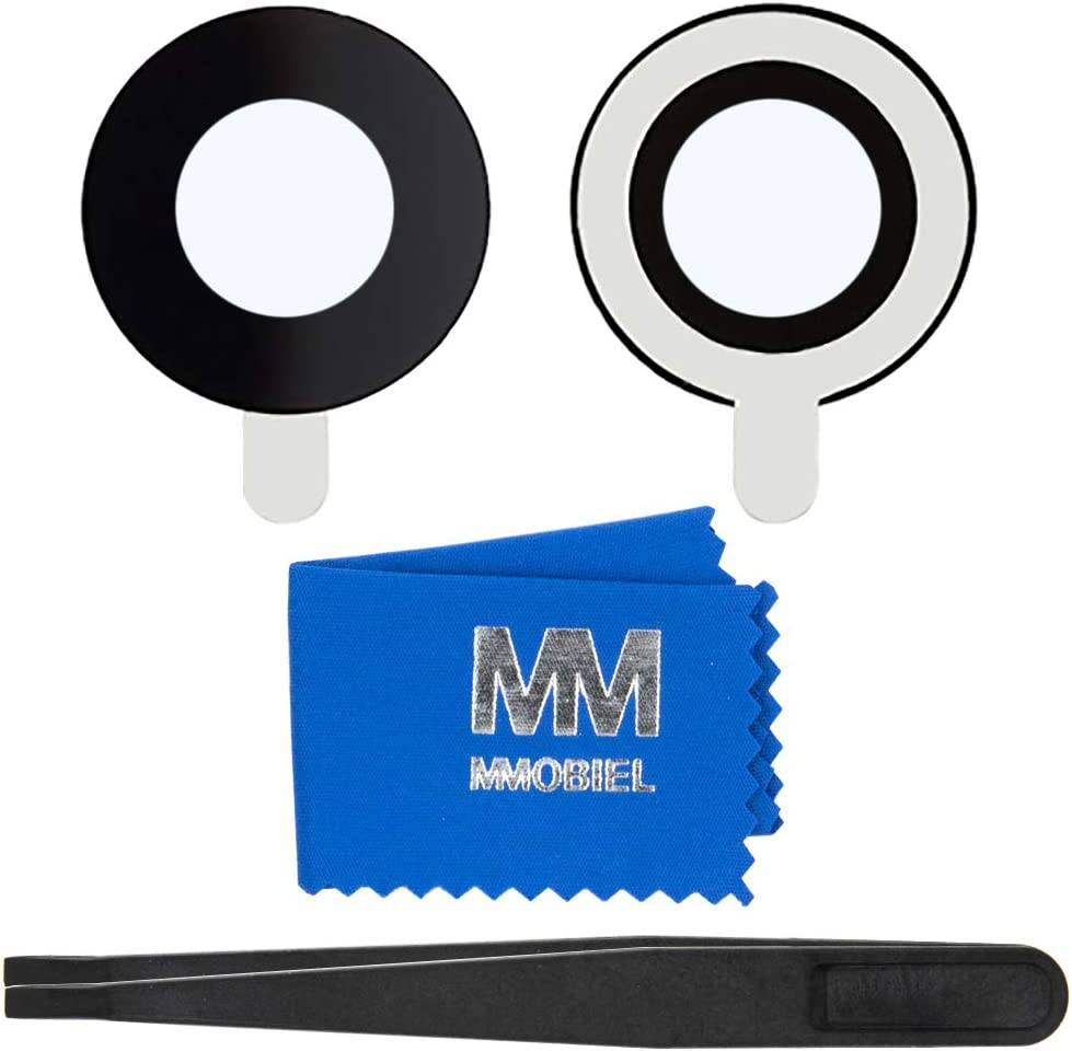 MMOBIEL Back Rear Camera Glass Lens Compatible with iPhone 7 / iPhone 8 incl Tweezers and Cloth
