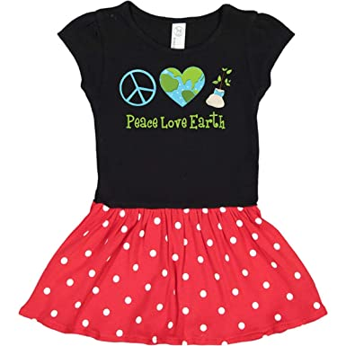 inktastic Earth Day Peace Love Earth Baby T-Shirt