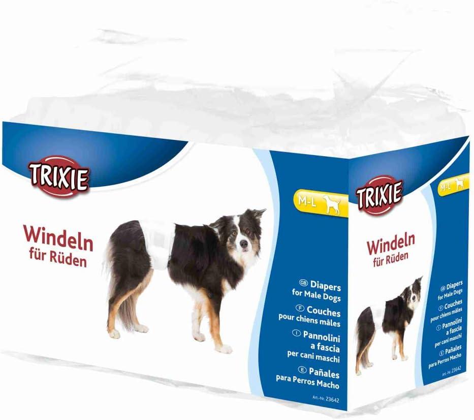 TRIXIE 12 Pañales para Perro Macho, M-L, 46-60 cm, Perro