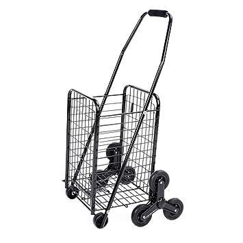 SXRNN Carrito de Compra 6 Ruedas Carro de Escalada de supermercado para Personas de Movilidad Limitada,Black: Amazon.es: Hogar