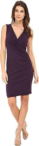 Michael Stars Womens Exclusive Sleeveless Surplice Dress