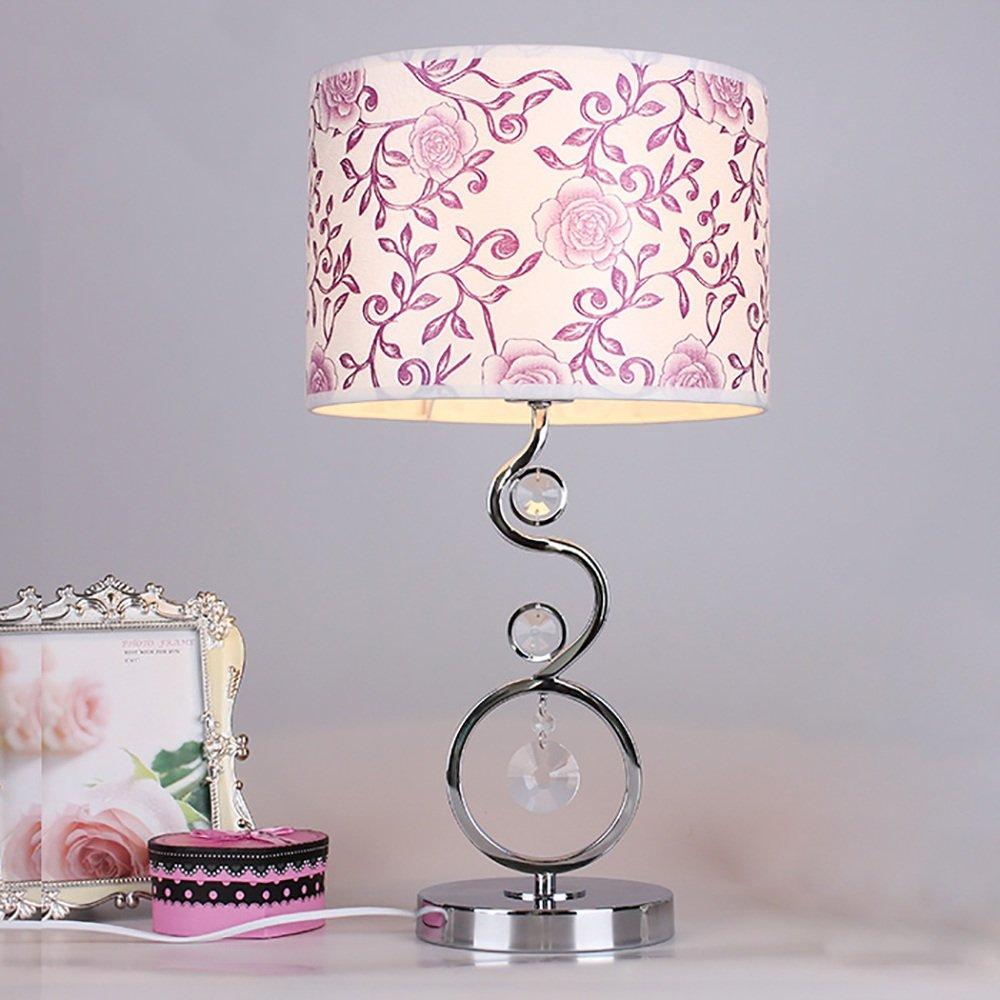 MEHE@ Mode Stilvoll Persönlichkeit kreativ Moderne einfache Wohnzimmer Schlafzimmer Tischlampe Korean kreative Nacht Kristall Lampe Schreibtischlampen Nachttischlampen