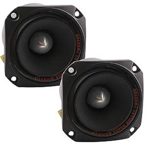 Seismic Audio - Pair of Titanium Horn Bullet Tweeter Speakers PA/DJ Tweeters - Replacement
