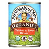 Newman's Own Organics Dog Food - Chicken and Liver - Case of 12 - 12.7 oz.