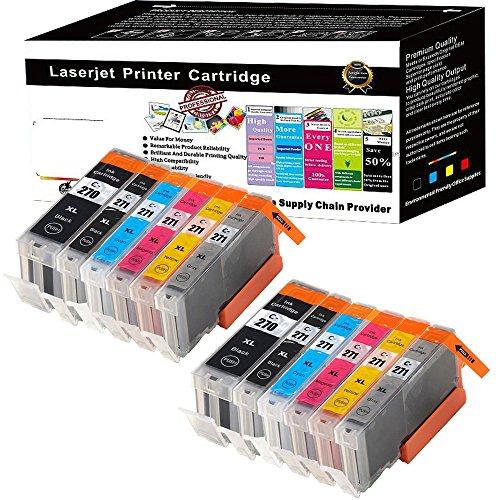 Wolfgray 12 packs PGI-270XL CLI-271XL PGI 270 XL CLI 271 XL Compatible Ink Cartridge for PIXMA MG7720 MG5722 MG6822 TS5020 MG6820 MG5720 MG6821 TS9020 (2 PGBK 2 Black 2 Cyan - Two Usps Cost Delivery Day