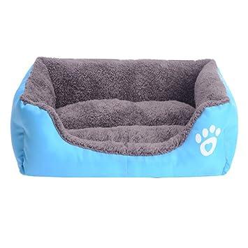 Cama Nido para Mascotas Cama de Perro Comfortable Cuadrado de Color Caramelo Cálido Nido