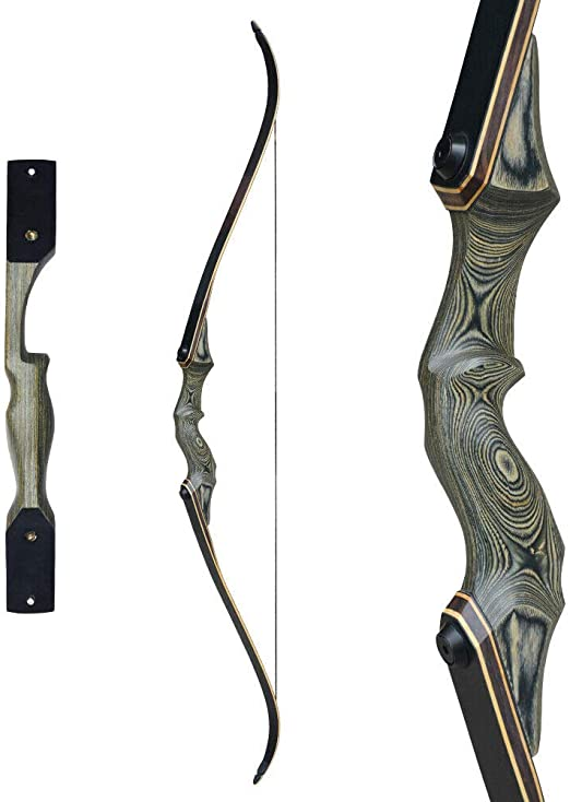 """Details about  /60/"""" Archery Longbow Takedown Long Bow 20-60lbs Right Hand Bamboo Core Limbs"""