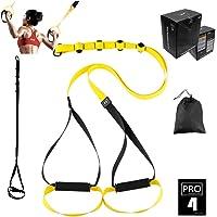 O RLY Poids Fitness résistance Sangles d'entraînement de Voyage et en Dehors l'intérieur et l'extérieur (P3Pro 4) Jaune