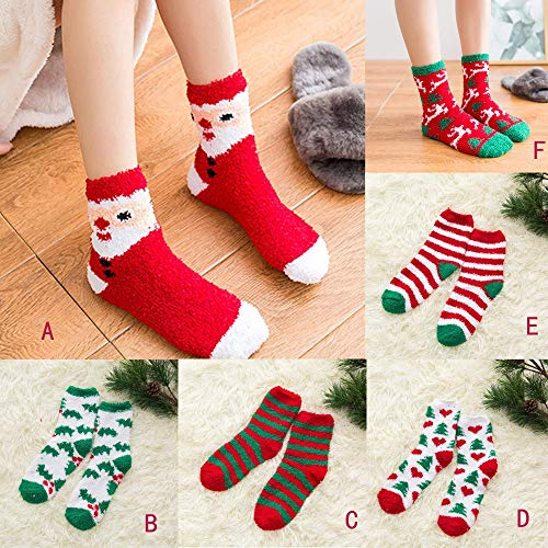 a4f9633007a6 GzxtLTX Crew Socks Fuzzy Funny Christmas Pattern Printed Ugly Christmas  Socks by GzxtLTX (Image #