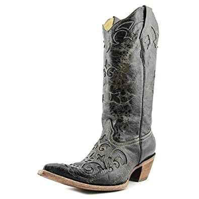 4a30aac6065 CORRAL Women's Lizard Inlay Western Cowgirl Boot Pointed Toe - C2108