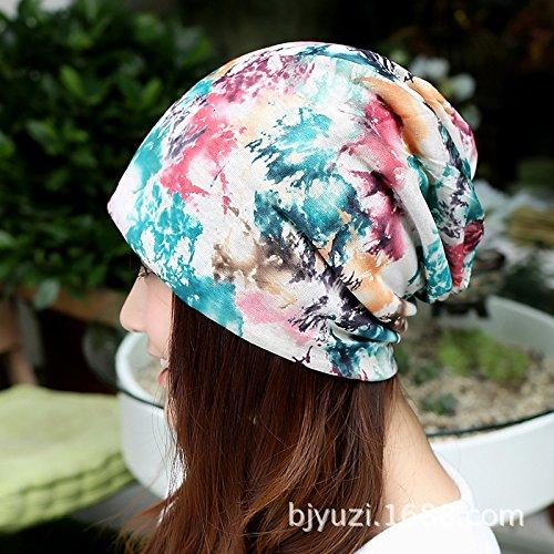 bluee flower Women's Adjustable Beach Floppy Sun Hat