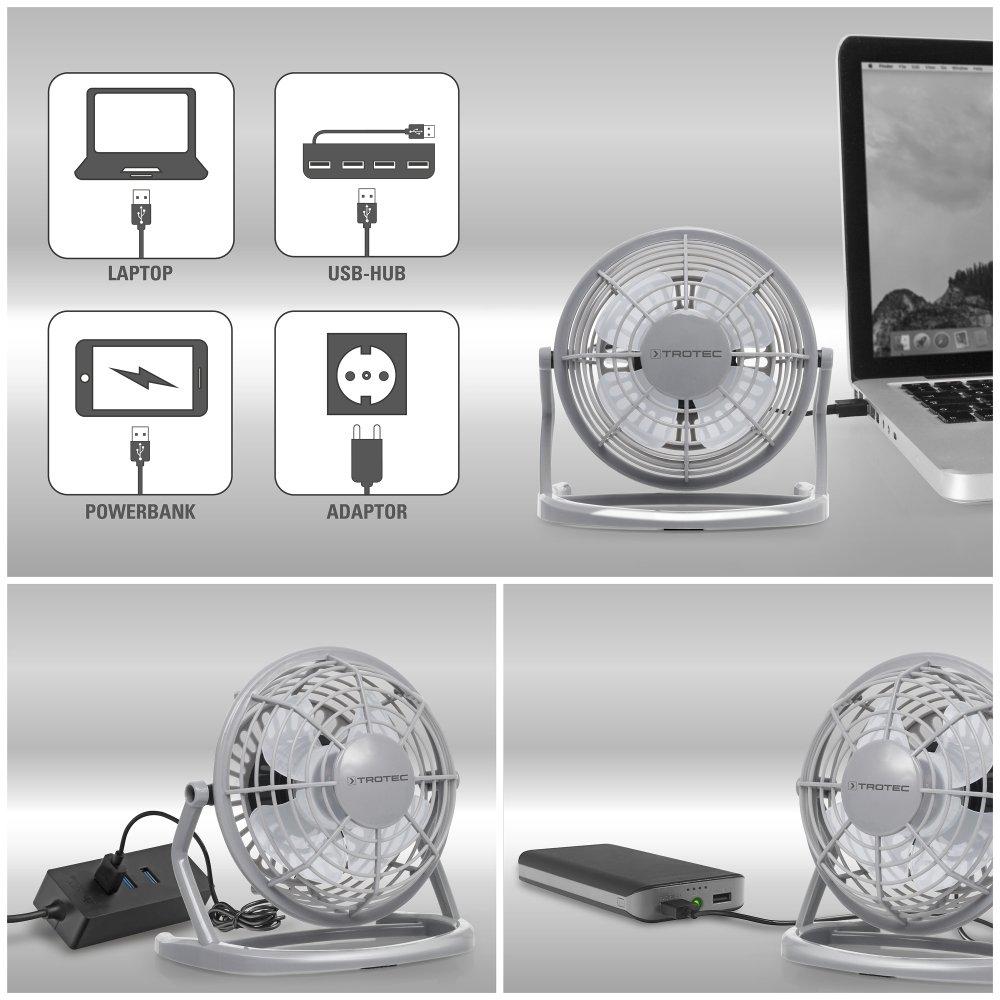 360/° Neigungswinkel TROTEC TVE 1P Mini USB Ventilator//Fan//L/üfter Raspberry Pink ger/äuscharm mit An//Aus-Schalter