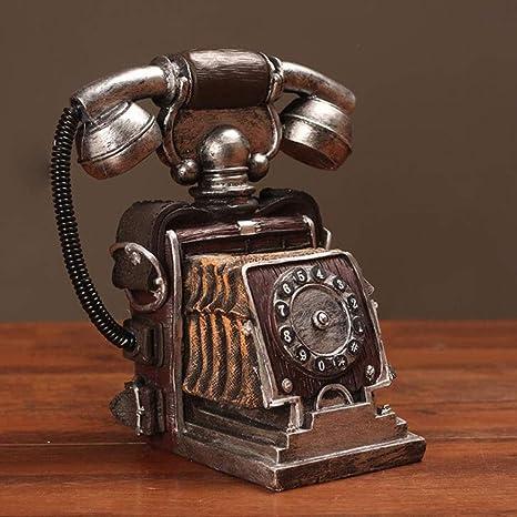 Europeo Retro Teléfono Máquina Escultura Viejo Café Bar Tienda Restaurante Vintage Ventana Exhibición Decoración Modelo Decoración