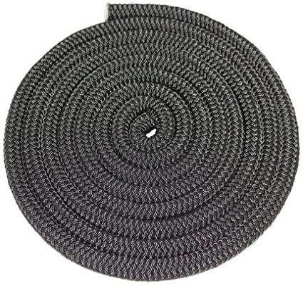Anchor Lines Twin Braid Crafting More for Mooring All-Purpose Nylon Cord Towing DIY Projects 50 ft - 300 ft, Black Gardening SGT KNOTS Double Braid Nylon Rope 3//8 inch - 5//8 inch