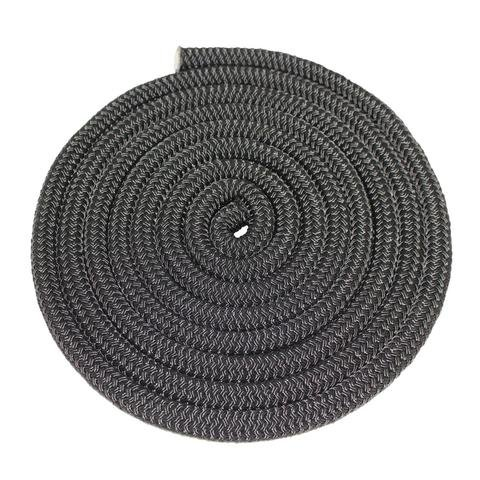SGT KNOTS Double Braid Nylon Rope (1/2 inch) Twin Braid - All-Purpose Nylon Cord - for Mooring, Towing, Anchor Lines, Gardening, DIY Projects, Crafting, Construction, More (50 feet - Black)