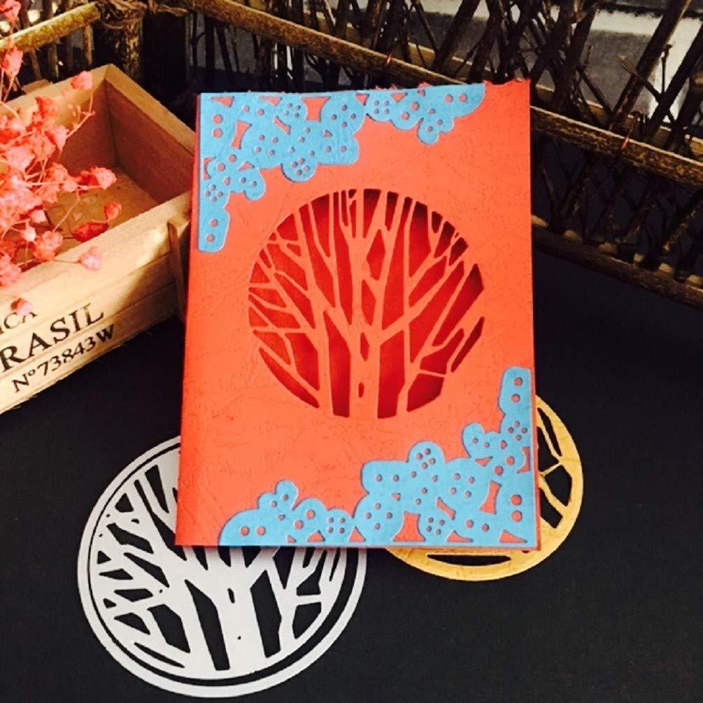 Vgerlt Fustellatrice Fustelle Metallo Fustella Stencil DIY Cutting Dies Scrapbooking Album Foto Decorative Corner