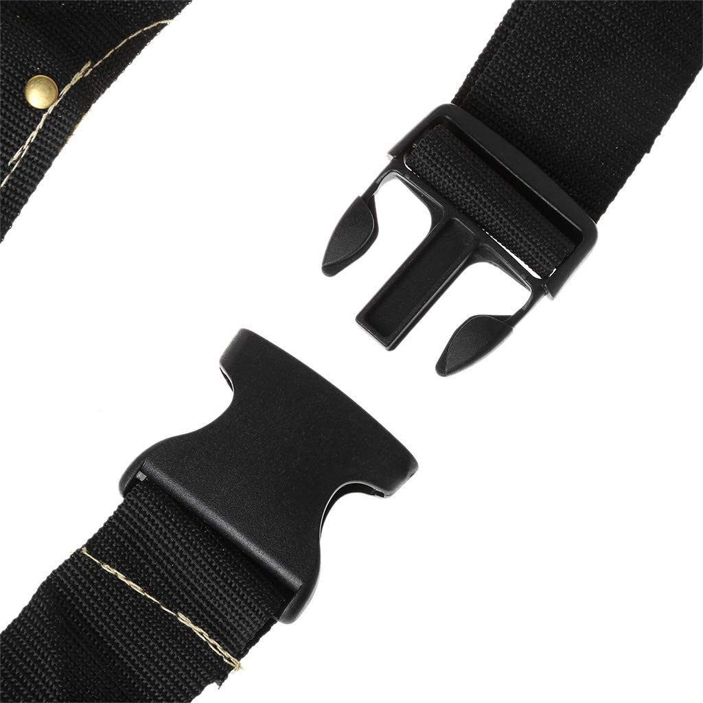 Fulok Easy Electrician Waist Tool Belt Pouch Bag Screwdriver Kit Repair Tool Holder Leather Screws