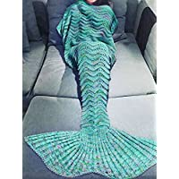 KAKOM 71-Inch-by-35.5-Inch Mermaid Tail Blanket for...
