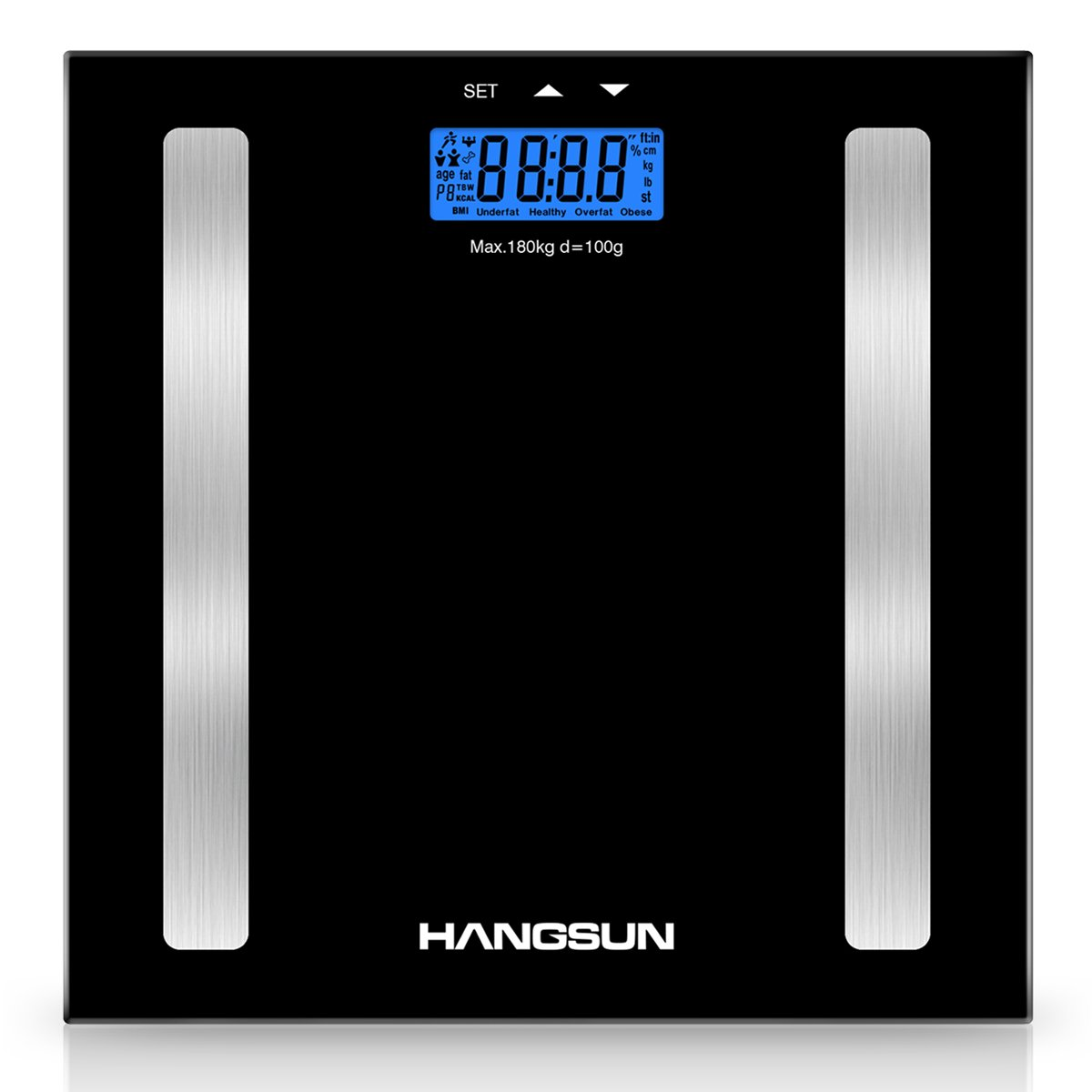 Hangsun Bilancia Pesapersone Professionale Digitale HS100 Bilancia Diagnostica impedenziometrica Elettronica