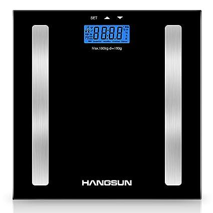 Hangsun Báscula de baño analizadora digital HS1 Báscula de análisis corporal electrónica por segmentos