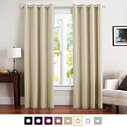 Room Darkening Curtains For Living Room 84 Inches Long Moderate Blackout  Window Curtain Panels For Bedroom