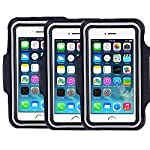 """SweatProof Armband for Big Phones, [3 Pack] CaseHigh Shop for iPhone 6S/6/5S/5/5C/4/4S & Galaxy S5/S6 Plus S7 LG G5 V10… 5 Universal Designed: Up to 5.7"""" diagonal size. This waterproof dry bag fits almost all of phones, for instance, Apple iPhone 4/4S,iPhone SE/5S/5,iPhone 6/6s,iPhone 6 Plus/6S Plus, Samsung Galaxy S4/S5/S6 edge, Samsung Galaxy S7/S7 edge, Samsung note 4/ note5, LG G5 ,LG K7, LG K10, Nokia Lumia, BlackBerry, Motorola MOTO G, Keys, Cash, MP3 Player and other personal device less than 5.7 Built-in hidden key holder to help you minimize carrying extra things when hitting the gym! Reflective strip around border to enhance 'Jog Safe' precaution Enjoy the full use of your phone through the protective screen cover on the armband with fully touch compatible, easily answer calls, manage your playlist, or activate your stopwatch without removing the phone"""