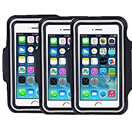 "SweatProof Armband for Big Phones, [3 Pack] CaseHigh Shop for iPhone 6S/6/5S/5/5C/4/4S & Galaxy S5/S6 Plus S7 LG G5 V10… 13 Universal Designed: Up to 5.7"" diagonal size. This waterproof dry bag fits almost all of phones, for instance, Apple iPhone 4/4S,iPhone SE/5S/5,iPhone 6/6s,iPhone 6 Plus/6S Plus, Samsung Galaxy S4/S5/S6 edge, Samsung Galaxy S7/S7 edge, Samsung note 4/ note5, LG G5 ,LG K7, LG K10, Nokia Lumia, BlackBerry, Motorola MOTO G, Keys, Cash, MP3 Player and other personal device less than 5.7 Built-in hidden key holder to help you minimize carrying extra things when hitting the gym! Reflective strip around border to enhance 'Jog Safe' precaution Enjoy the full use of your phone through the protective screen cover on the armband with fully touch compatible, easily answer calls, manage your playlist, or activate your stopwatch without removing the phone"