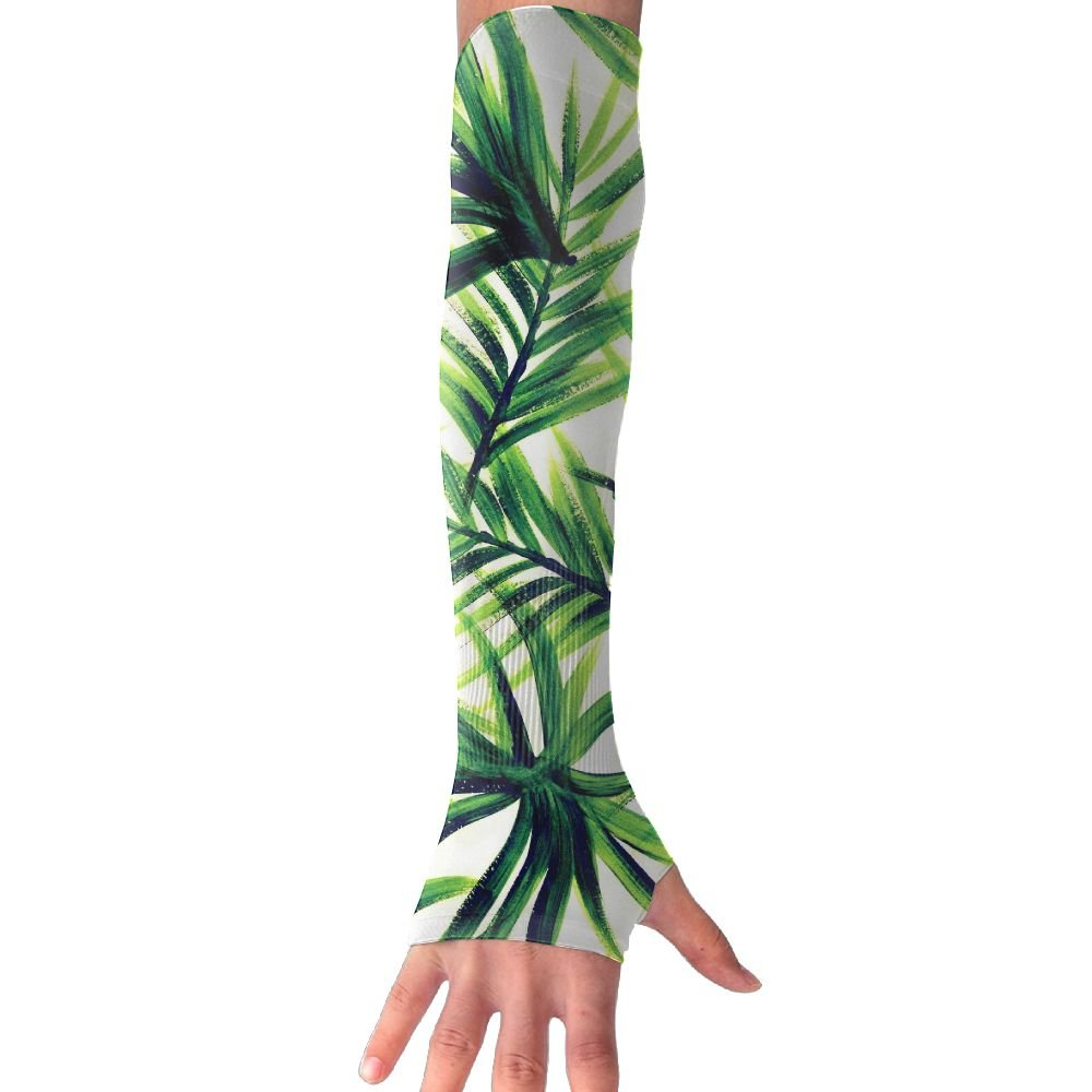 Unisex Coconut Palm Leaves Sense Ice Outdoor Travel Arm Warmer Long Sleeves Glove