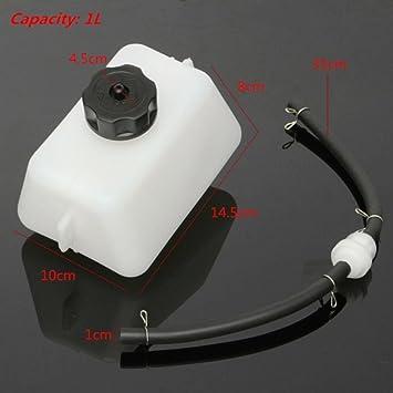 Depósito de combustible Ungfu con manguera para minimoto, motor de 2 tiempos de 47 y 49 cc: Amazon.es: Coche y moto