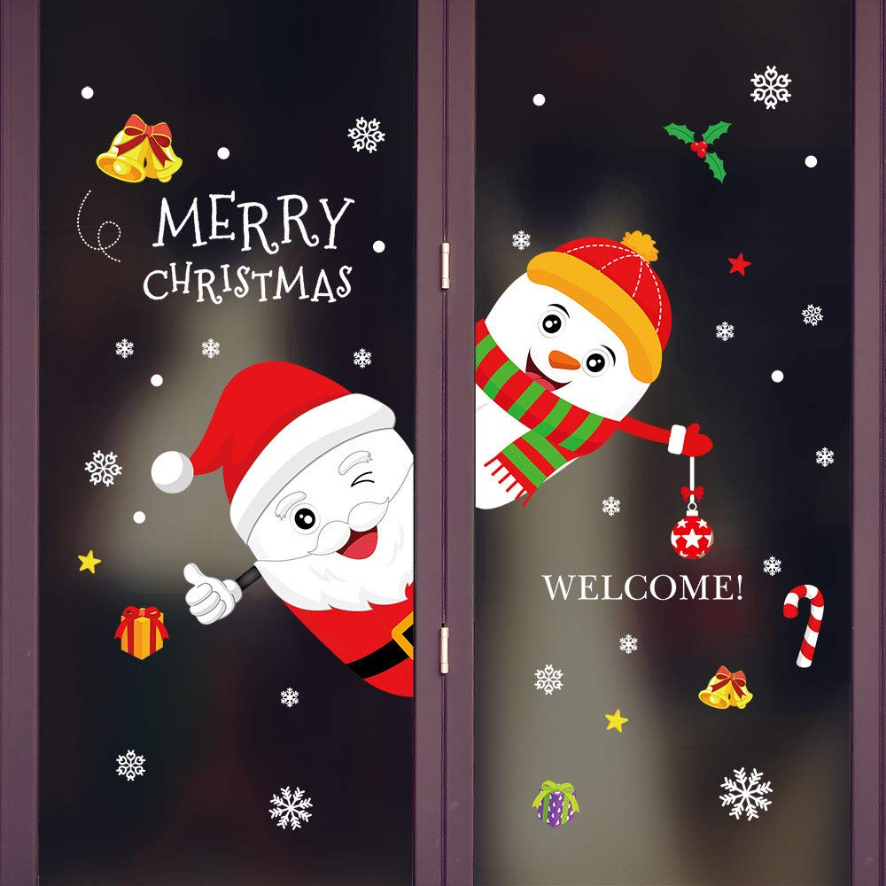 Theshy 2019 Merry Christmas Household Room Wall Sticker Mural Decor Decal Removable