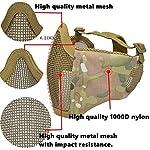 QZY Casque de Protection Airsoft Paintball ETS Casques Tactiques avec Masque de Maille en Acier Set de Jeux CS 8… 10