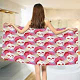 smallbeefly Coral Bath Towel Double Exposured Graphic Mexican Skull Bones and Exotic Creepy Dead Icon with Plants Customized Bath Towels Multicolor Size: W 19.5'' x L 39.13''