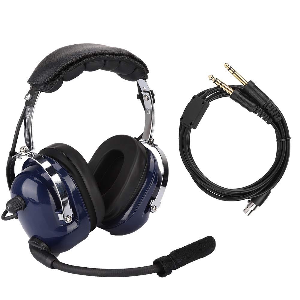 Bewinner General Aviation Headset,Dual Standard GA Plug Pilot Headphone, 3.5mm Noise Reduction Headset for Pilots,24dB Noise Reduction Hearing Protection,Adjustable Headband Made of Stainless Steel